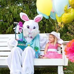 Get your party really hoppin' and invite the Easter bunny to the egg-hunt to pass out treats to the kids!