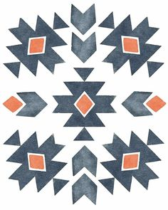 Geometric Aztec Print Gray and Burnt Orange Tribal Patterns, Quilt Patterns, Aztec Pattern Wallpaper, Surfergirl Style, Navajo Pattern, Aztec Art, Collage, Aztec Designs, Watercolor Texture