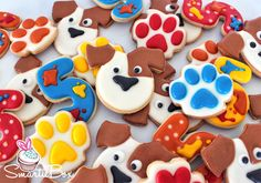 Secret Life of Pets and art party inspired Cookies - SmartieBox Cake Studio