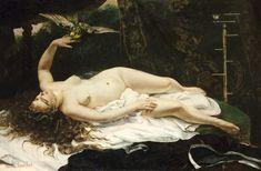 La femme au perroquet, par Gustave Courbet