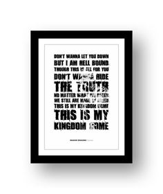 IMAGINE DRAGONS Demon 4 typography print by RetrotypePrints