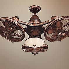 ceiling photo of nickel bn headed minka double brushed finish ch aire x vintage gyro fan chrome
