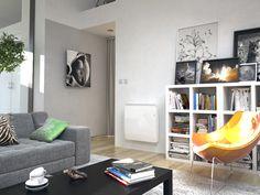 salon équipé d'un radiateur électrique économique Equateur 3 horizontal