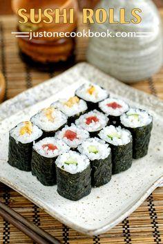 Sushi Rolls - Hosomaki (細巻き) | Easy Japanese Recipes at JustOneCookbook.com