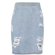 IRO Women's Denimina Distressed Mini Skirt (6,795 MXN) ❤ liked on Polyvore featuring skirts, mini skirts, bottoms, faldas, denim, distressed denim mini skirt, blue skirt, slit skirt, short skirts and short blue skirt