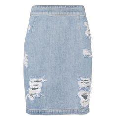 IRO Women's Denimina Distressed Mini Skirt (21,400 MKD) ❤ liked on Polyvore featuring skirts, mini skirts, denim, distressed skirt, short mini skirts, short slit skirt, distressed denim skirt and blue mini skirt