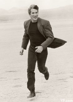 RICHARD GERE Photographed by Herb Ritts in the California desert, 1990.