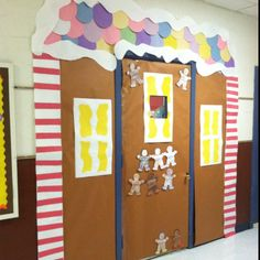 pintrest classroom door ideas | Gingerbread classroom door | School-DOOR DECORATIONS