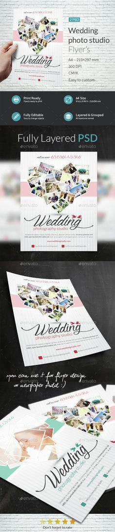 Wedding Photo Studio A4 Flyer Templates