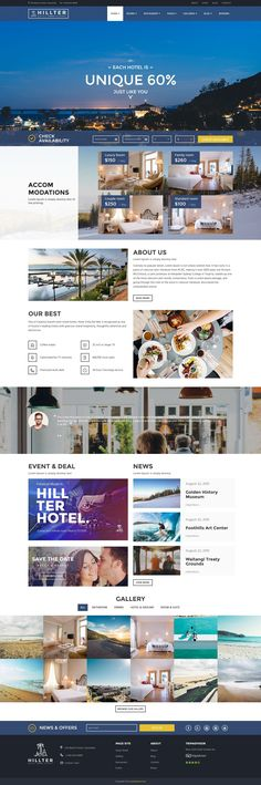 WordPress Hotel theme helps in developing many attractive websites with magnificent elements so essential in making a user friendly hotel website for you… Website Design Inspiration, Website Design Layout, Web Layout, Layout Design, Design Ideas, Template Web, Responsive Template, Hotels And Resorts, Best Hotels