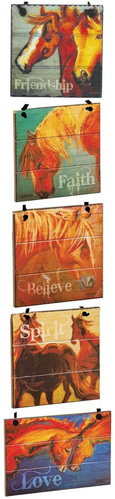 Barn board horse ornaments - the perfect gift for every equestrian on your Christmas list!