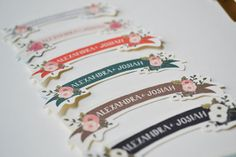 Custom Wedding Labels for your Invitations / Set by firstsnowfall, $32.00