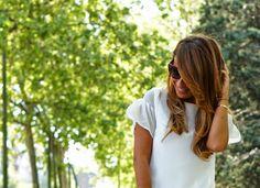 Estefanía García del blog Con 2 Tacones con el Vestido Bacille de la colección Spring 2014.