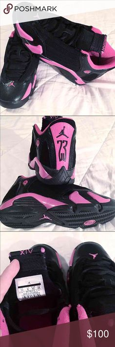 air jordan xiv pink and black nike shoes