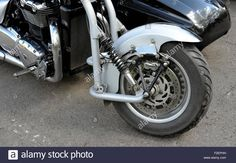 Download this stock image: motorcycle front suspension - F2EPHH from Alamy's library of millions of high resolution stock photos, illustrations and vectors.