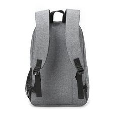 Mochila escolar mochila de lona (gris)