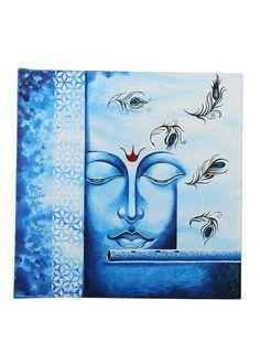 Modern Art Paintings, Classic Paintings, Indian Paintings, Peacock Painting, Fabric Painting, Acrylic Canvas, Canvas Art, Krishna Krishna, Ganesha Painting