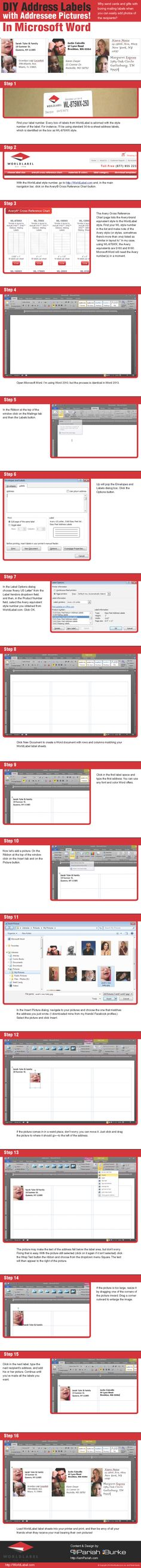 How to make address labels in Microsoft Word using label templates by @Pariah Burke