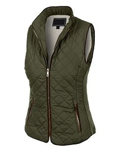 LE3NO Womens Lightweight Quilted Zip Up Puffer Vest with Pockets * Be sure to check out this awesome product.