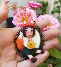 Polymerclay fox doll, handmade with love by Mnemories Workshop!