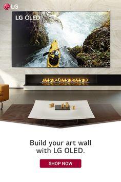 Fireplace Wall, Fireplace Design, Beautiful Home Designs, Beautiful Homes, 4 Season Room, Lg Oled, Pizza Art, Roof Ceiling, Big Screen Tv
