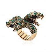 Gold Serpent Ring Emerald