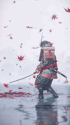 Oni Samurai, Samurai Warrior, Japanese Artwork, Japanese Tattoo Art, Anime Krieger, Samurai Wallpaper, Arte Ninja, Samurai Artwork, Ghost Of Tsushima