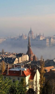 Mist over the Danube from the Buda side of Budapest - one of my favourite cities of all time.