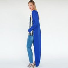 Kat | blue daisy cardigan