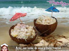 Descubre un postre exótico de arroz con leche de coco y frutas tropicales, originario del Sudeste Asiático. Te sorprenderá!