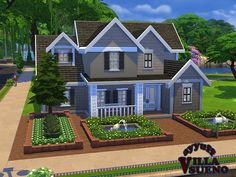 American family house for 7 persons. Found in TSR Category 'Sims 4 Residential Lots'