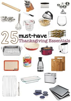 25 Thanksgiving Dinner Cooking Essentials