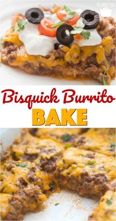 Impossible Bisquick Burrito Bake recipe from The Country Cook #dinner #recipes #ideas #groundbeef #beans #quick #easy