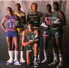 80's Converse Spokesmen:  Ishiah Thoms, Magic Johnson, Larry Bird, Bernard King, Mark Aguire & Kevin McHale