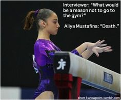 I can't stand Aliya Mustafina. Russian Assassin.