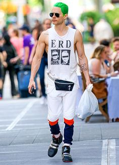 We loved everything about the look Jared Leto chose to run errands in NYC May 19.