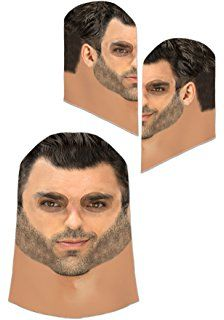 Full Face Realistic Sublimated Fabric Costume Mask One Size Fits Most Adults