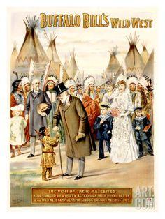 Buffalo Bill's Wild West, Visit of Majesties Giclee Print by Arthur Jule Goodman at Art.com