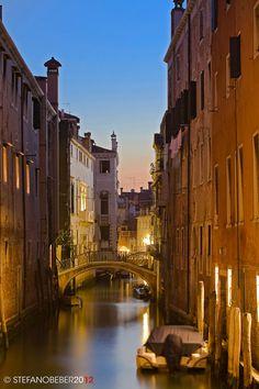 Venice Canal at Sunrise