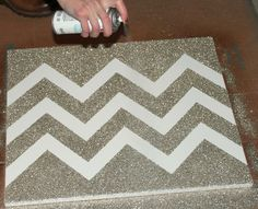 chevron glitter canvas how to
