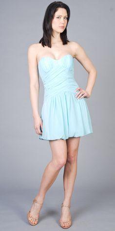 Blue Taffeta Tulle A-Line Sequined Halter Sweetheart Neckline