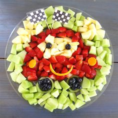 Disney Cars Fruit Tray - Working Mom's Edible Art