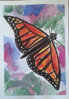 Monarch Butterfly original watercolour painting by by MyCoveArt Monarch Butterfly, Watercolour Painting, Paintings, The Originals, Art, Art Background, Paint, Painting Art, Kunst