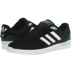 adidas Skateboarding ZX Vulc (Black White Ice Green) Men s Skate Shoes ( fd1a8ac85ad