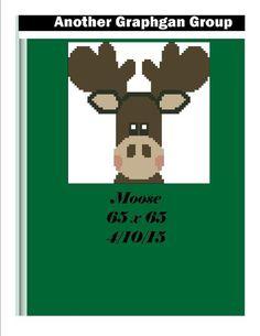(4) Name: 'Crocheting : Moose 65 x 65
