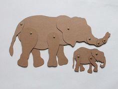 Olifant met jong (schuifbeesten) Diy Crafts For Gifts, Arts And Crafts, Elmer The Elephants, Cardboard Design, School Projects, Paper Cutting, Paper Dolls, Paper Art, Lion Sculpture