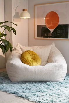 Cozy Living Rooms, Home And Living, Living Room Decor, Bedroom Decor, Bedroom Ideas, Entryway Decor, Bean Bag Living Room, Front Room Decor, Decor Room
