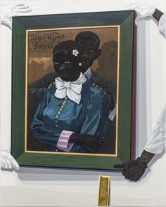 "thunderstruck9: ""Kerry James Marshall (American, b. 1955), Still-life With Wedding Portrait, 2015. Acrylic on PVC panel, 60 x 48 in. """