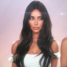 West's Confessional glam, done by & Kim Kardashian Kylie Jenner, Kim Kardashian Wedding, Kardashian Style, Kim Kardashian Long Hair, Kim Kardashian Hairstyles, Kardashian Kollection, Celebrity Hairstyles, Kendall Jenner, She Is Gorgeous