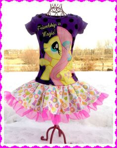My Little Pony Party Dresses | RTS girls My Little Pony Fluttershy Tulle by BlossomBlueBoutique, $36 ...